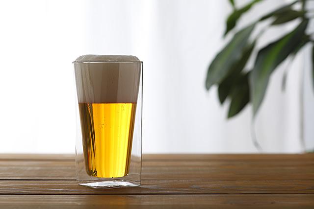 ビール 大 昼間 rayes レイエス スクエア ダブルウォールグラス