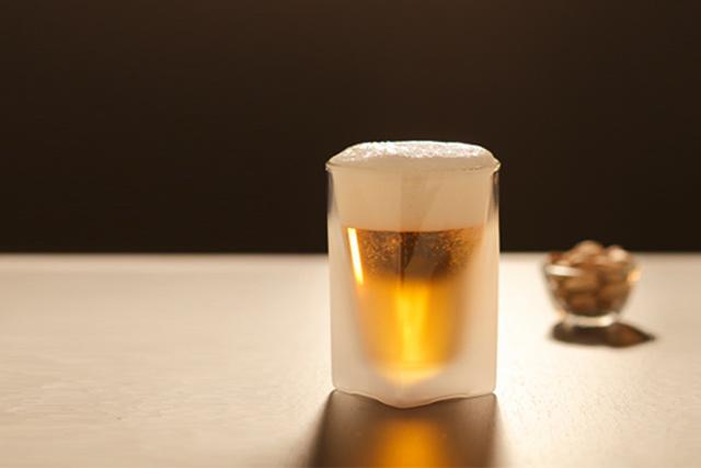 ビール バー フロスト 曇り 雲 サンドブラスト rayes レイエス スクエア ダブルウォールグラス