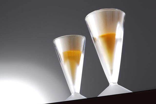 ビール ビア ペア 泡立 フロスト rayes レイエス スクエア ダブルウォールグラス