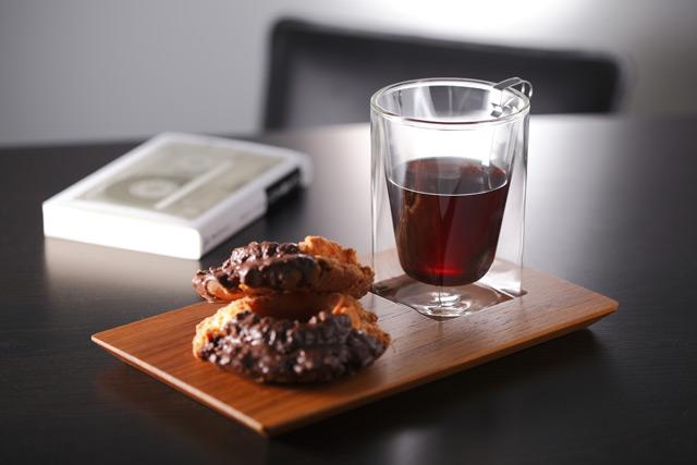 ドーナッツ カフェ コーヒー チーク ティー プレート rayes レイエス スクエア ダブルウォールグラス
