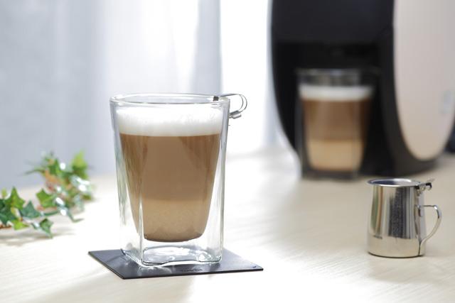 コーヒー 珈琲グラス ガラス ネスカフェ カフェ オレ カプチーノ rayes レイエス スクエア ダブルウォールグラス