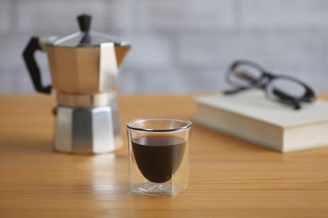 コーヒー 珈琲グラス ガラス エスプレッソ 読書  rayes レイエス スクエア ダブルウォールグラス