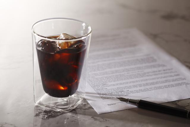 コーヒー 珈琲 契約 接客 来客 rayes レイエス スクエア ダブルウォールグラス