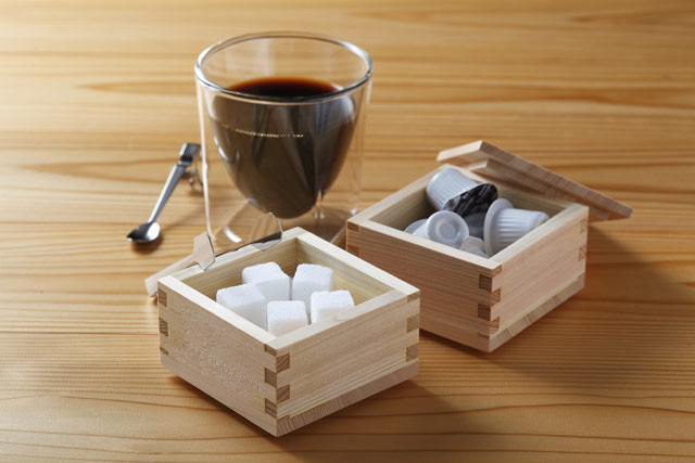 珈琲 コーヒー ホット 砂糖 ミルク rayes レイエス スクエア ダブルウォールグラス