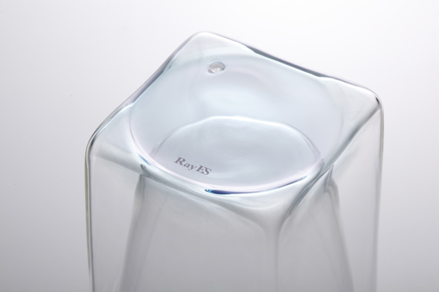 青 ブルー クリアー グラデーション 透明 カラー rayes レイエス スクエア ダブルウォールグラス