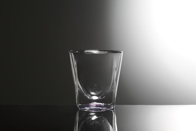 紫 ピンク パープル クリアー グラデーション 透明 カラー rayes レイエス スクエア ダブルウォールグラス
