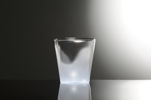 青 ブルー フロスト 白 ホワイト グラデーション カラー rayes レイエス スクエア ダブルウォールグラス