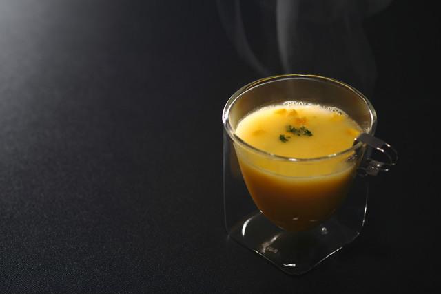 コーンスープ ポタージュスープ rayes レイエスダブルウォールグラス