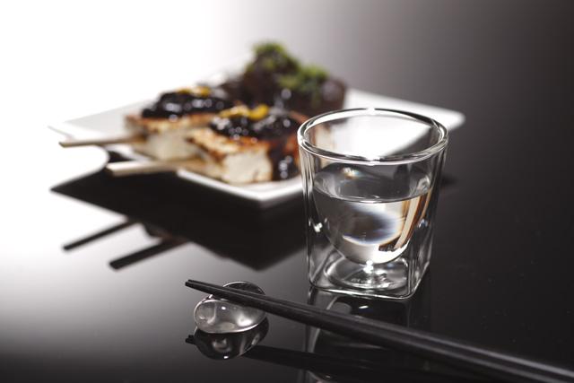 田楽 八丁味噌 日本酒 冷酒 熱燗 rayes レイエス スクエア ダブルウォールグラス