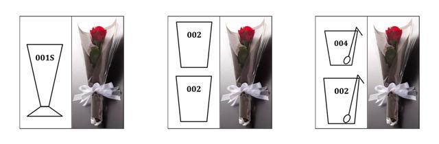 フリー フラワー カスタム ギフトボックス バラ プリザーブド  rayes レイエス ダブルウォールグラス Mサイズ 組み合わせ例 レイエスダブルウォールグラス