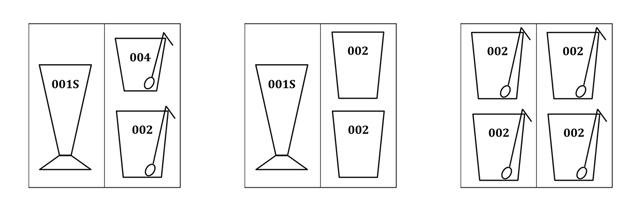 カスタムギフト フリーボックス ラッピング メッセージカード Mサイズ 組み合わせ例 レイエスダブルウォールグラス