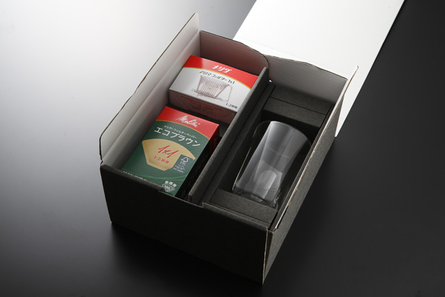 ギフト セット ドリップ メリタ 珈琲 コーヒー melitta coffee rayes レイエス スクエア ダブルウォールグラス
