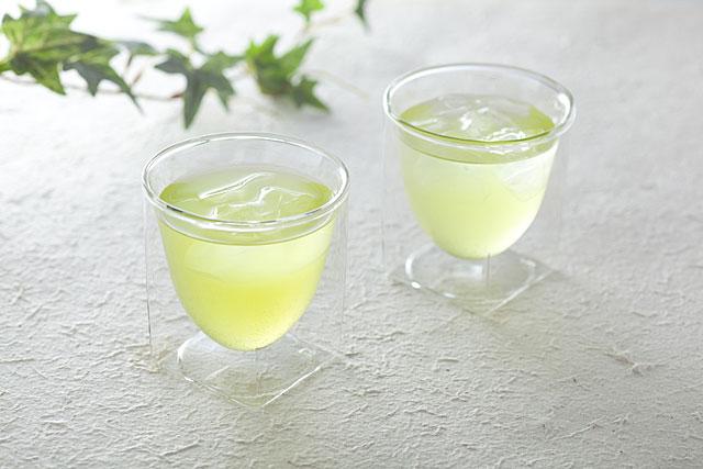接客 来客 緑茶 お茶 冷茶 ペア セット rayes レイエス スクエア ダブルウォールグラス