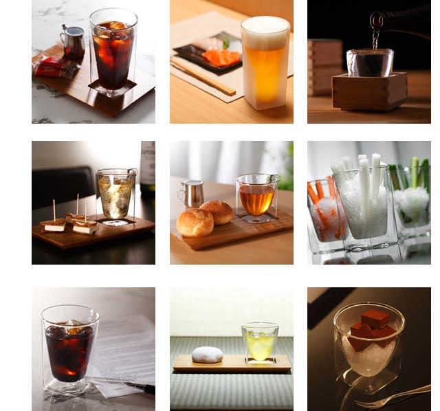 業務用 ホテル レストラン バー 企業 接客  rayes レイエス スクエア ダブルウォールグラス