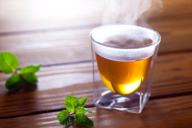 ホット ハーブティー 茶 rayes レイエス スクエア ダブルウォールグラス