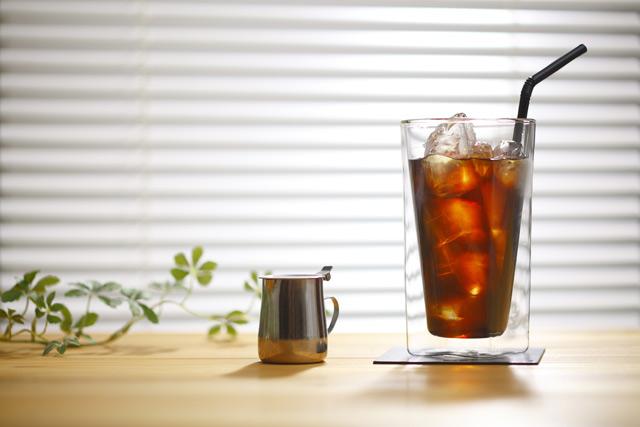 アイスコーヒー 大 喫茶店 rayes レイエス スクエア ダブルウォールグラス