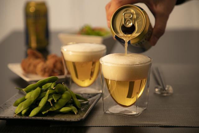 家飲み 宅飲み オンライン飲み会 ビール 枝豆 レイエス rayes ダブルウォールグラス
