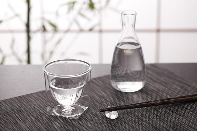 日本酒 冷酒 熱燗 rayes レイエス スクエア ダブルウォールグラス