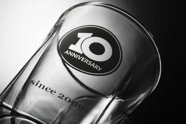周年 記念品 ノベルティ 名入れ  rayes レイエス スクエア ダブルウォールグラス