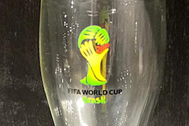 ワールドカップ 記念品 ノベルティ 名入れ  rayes レイエス スクエア ダブルウォールグラス