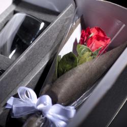 ラ プリザーブドフラワー 花束 ラッピング レイエスダブルウォールグラス
