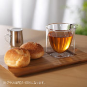 アイス コーヒー カフェ チーク プレート rayes レイエス スクエア ダブルウォールグラス