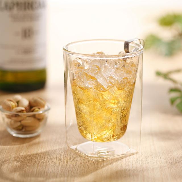 ウィスキー ハイボール whiskey haighball rayes レイエス スクエア ダブルウォールグラス