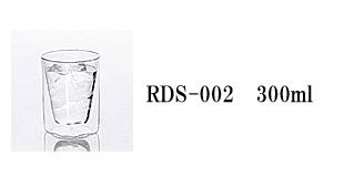 RDS-002 rayes レイエス スクエア ダブルウォールグラス