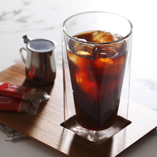 アイス コーヒー  rayes レイエス スクエア ダブルウォールグラス