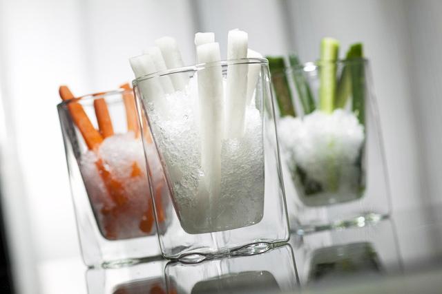 野菜スティック クラッシュアイスメーカー 製氷皿 トレー rayes レイエス ダブルウォールグラス