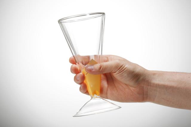 滑り止め ビール シャンパン 斜光 SHAKO  rayes レイエス スクエア ダブルウォールグラス