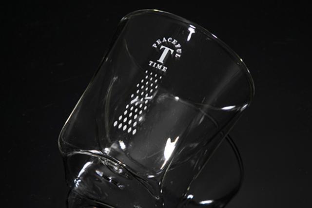 トワイニング紅茶 ノベルティ レイエス rayes ダブルウォールグラス
