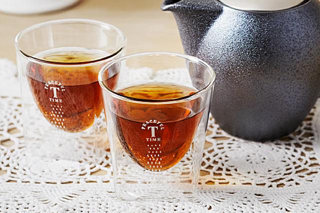 ノベルティ 記念品に トワイニング 紅茶 レイエス rayes ダブルウォールグラス