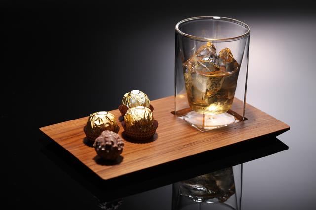 バー ウィスキー チョコレート チーク プレート rayes レイエス スクエア ダブルウォールグラス