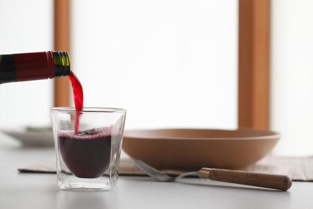 ワイン ホット 赤 rayes レイエス スクエア ダブルウォールグラス