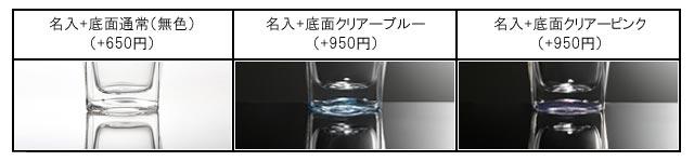 焼き付け 名入れ 刻印 サービス カラー ブルー ピンク rayes レイエス ダブルウォールグラス